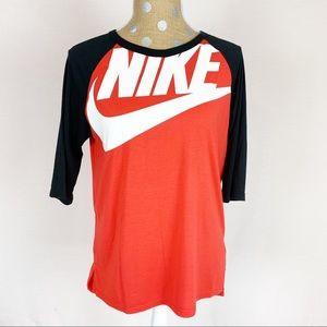 Nike 3/4 Sleeve Red/Black/White Top XL